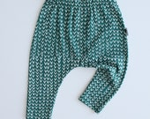 Baby Leggings / Baby Pants in Harem Style - Tribe (Green) - READY TO SHIP by Little Dreamer