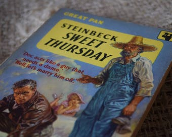 Sweet Thursday. John Steinbeck. Great Pan. A Vintage Paperback Book. GP92. 1958
