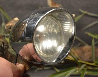 Vintage bike light - Big bicycle dynamo lamp - Plastic bicycle accessories - Mountable bike lamp - Moped headlight - Retro bike