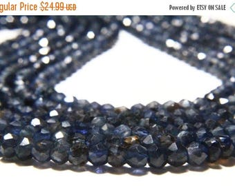 """65% OFF SALE 13"""" Full Strand Natural Iolite Rondelles 4mm to 5mm Rondelle, Genuine Iolite Beads Drilled Gemstone Faceted Rondelle Beads"""