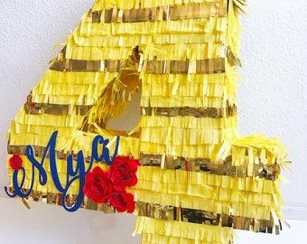 Age Piñata | Number Piñata | Initial Piñata | Letter Piñata | Custom Piñata | Personalized Piñata  | Birthday Party Decor | Pinata | Piñata