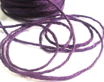 10 m 2mm dark purple hemp cord