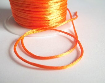 10 m rat tail orange neon 1 mm