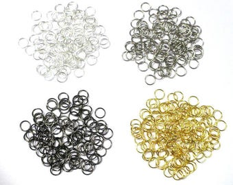 Lot of 400 7mm jump rings mixed colors