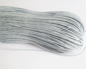 5 meters of thread waxed cotton gray 0.7 mm
