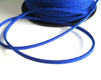 5 m blue electric suede 3 mm suede cord