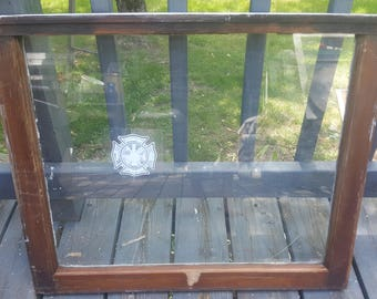 Vintage Old Wood Window Frame Single Pane One Farmhouse Country Rustic White Wedding Decor Seating Chart