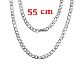 1 horse 55 cm stainless steel link chain necklace