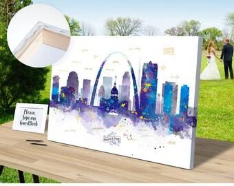 WEDDING GIFT IDEAS St Louis Skyline Canvas Wedding Decor Personalized Gifts