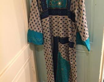 Hippie vintage dress, large