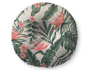 Tropical Floral - floor pillow
