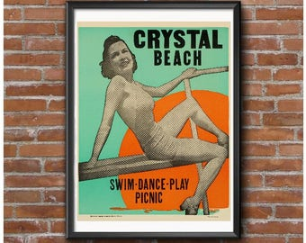 Vintage Crystal Beach Note Cards With Envelopes - Package of 10