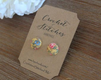 Fabric Earrings ~ Ladies Earrings ~ Studs