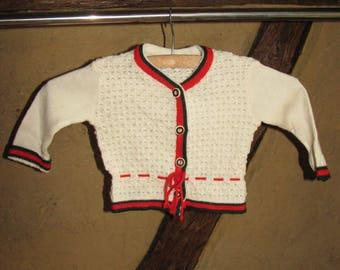 Baby SWEATER kids CARDIGAN folk Trachten buttons JUMPER Baby Club
