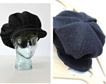 Handmade Tweed hat Unisex hat Newsboy cap Baker Boy Cap Sun hat Edwardian Peaky Blinder Made in Ireland Bohemian Flat cap Unique Wool cap