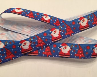 Christmas Santa Grosgrain Ribbon 5/8""