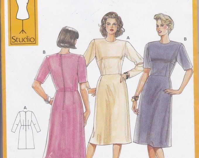 FREE US SHIP Burda 5453 Retro 90's Sewing Pattern  Basic Fitting Dress Size 8 10 12 14 16 18 20 22 24 Bust: 31.5 32 34 36 38 40 42 44 46 48