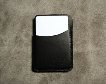 Three Pocket Minimalist Wallet - Black