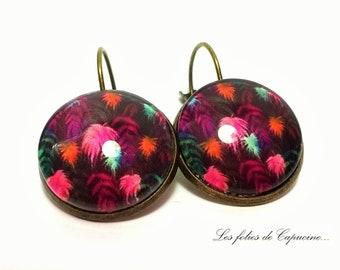 •PALMIERS• Cabochon Stud Earrings