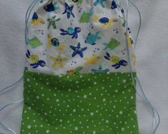 cord bag child model sea blue yellow