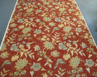 70's Cotton Upholstery/Drapery Fabric ~~ Never Used ~~ Over 3 yds