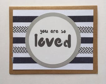 Baby Boy Greeting Card - You Are So Loved