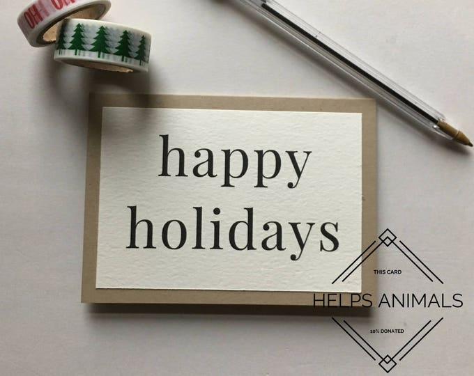 Holiday Card | Rustic Holiday Card | Happy Holidays | Simple Holiday Card