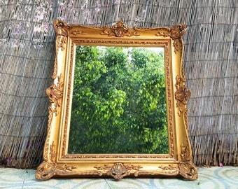 Espejo labrado isabelino / antique elizabethan mirror