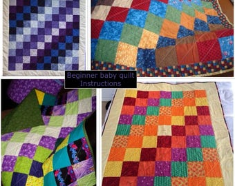 Quilt Pattern--Stepping Squares (digital download)