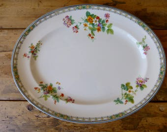 Oval Serving Dish 'Pareek' by Johnson Bros, England 36x28cm C.1930s