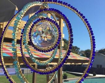 Beautiful Blue Crystal Suncatcher