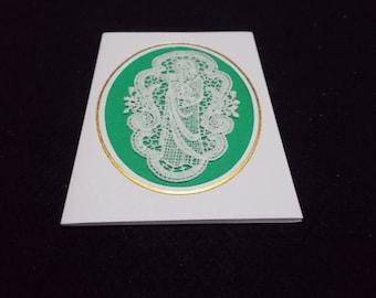 Cards Belgian Lace Religious motifs