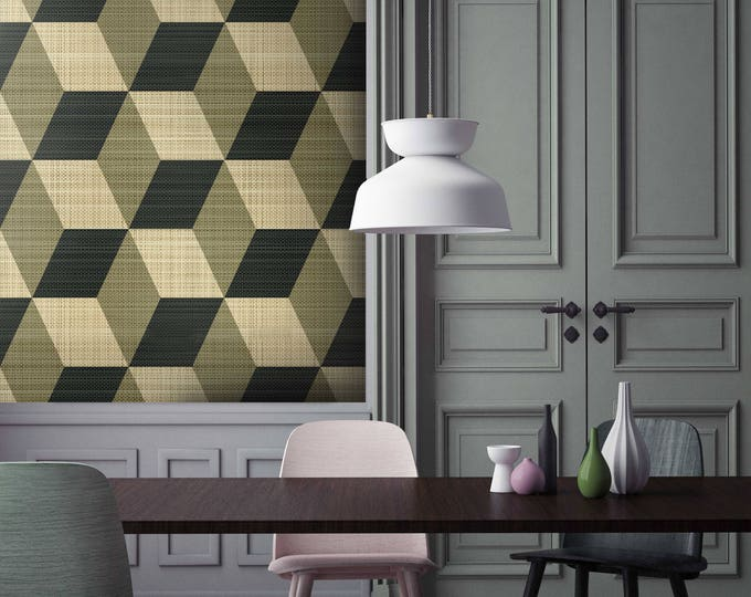 Vintage Cubic Wallpaper - Isometric Wallpapers- Vintage isometric Wallpapers