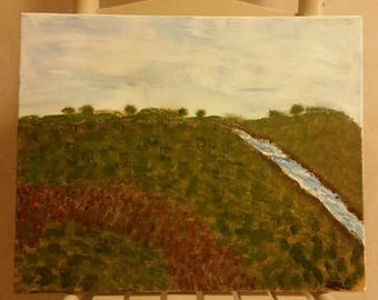 Babbling Brook original painting on canvas