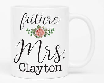 Future Mrs. Mug, Engagement Gift, Bridal Shower Gift, Bride to Be, I'm Getting Married, Engagement Photo Prop, Engagement announcement