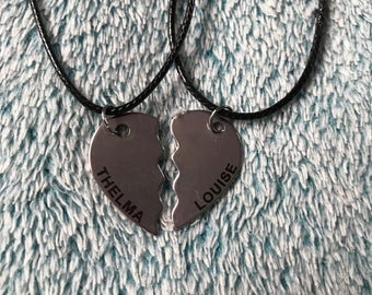 Thelma and Louise Two Piece Pendant Necklaces