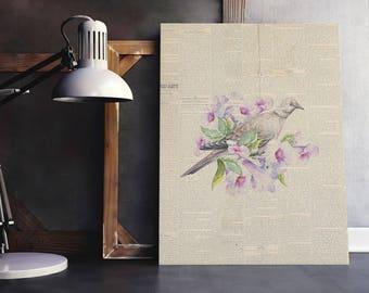 Bird Bouquet | Floral Bird Bouquet, Bird Floral Nest, Floral Bouquet Print, Bird Nest Print, Bird flower Nest, Spring Bouquet Bird