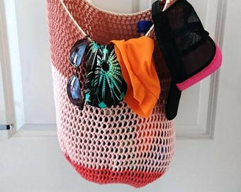 Crochet beach tote market bag summer fashion holiday travel