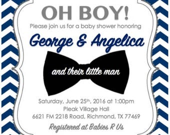 Little Man Baby Shower Invitation (Printable)