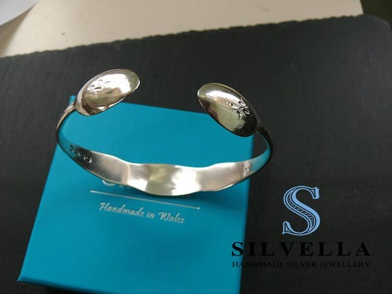 Solid Silver Victorian Sugar Tong Cuff_Bangle
