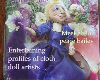 Cloth Doll Magazine, cloth doll patterns, Mehitabel Del pattern, soft doll patterns, Christmas doll pattern, Christmas doll