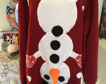 Ugly Christmas Sweater, Men's Christmas sweatshirt, Funny Christmas shirt, Red Christmas sweater