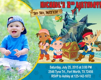 Jake and the Neverland Pirates Invitation, Jake and the Neverland Pirates Birthday, Jake and the Neverland Pirates Party