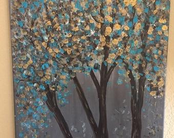 Golden Blue Trees