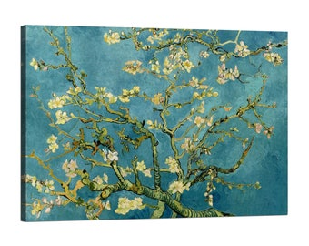 Painting on canvas with wood frame (Framed Canvas) Vincent Van Gogh Almond Blossom