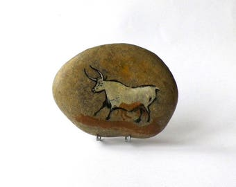 Painted Pebble, quality reproduction painting prehistoric rock