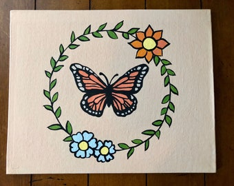 Butterly Painting 8x10