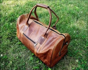 Large Leather Duffle Bag. Leather Shoulder Duffle Bag. Leather Travel Bag. Leather Overnight Weekender Bag. Camel Leather Bag. Men's Bag