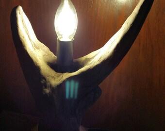 Natural Driftwood lamp