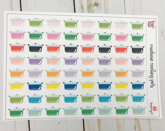 Rainbow cooking pots /happy planner stickers/cooking stickers/planner stickers